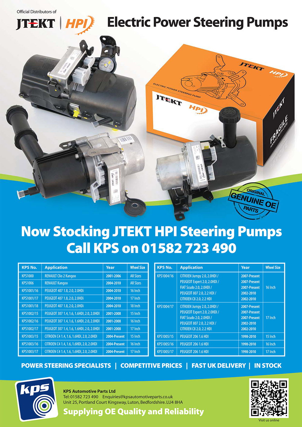 JTEKY Steering Pump Applications