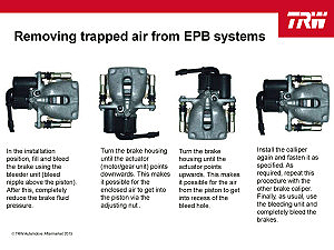 EPB trapped air removal
