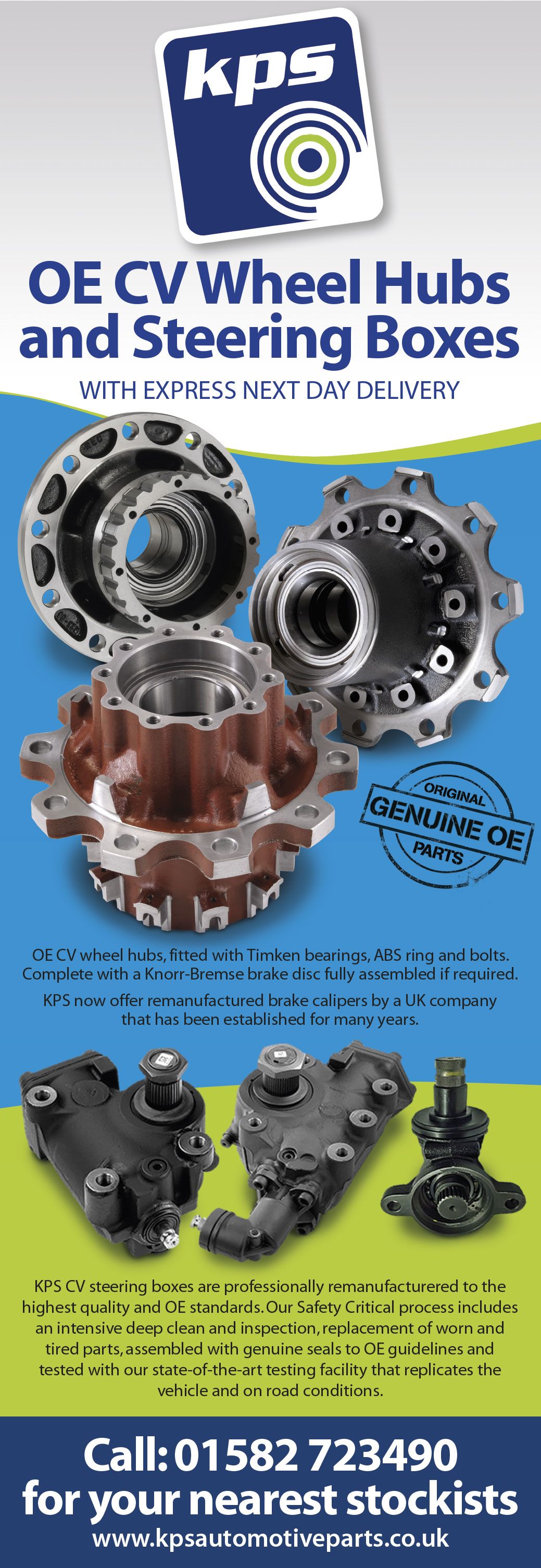 KPS Commercial CV Hubs, Steering Boxes